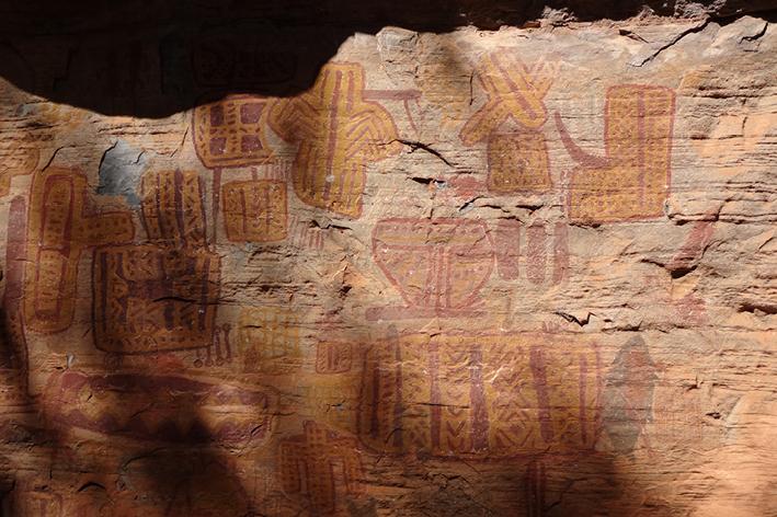 Pintura rupestre das Cavernas do Peruaçu MG